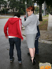 Kylie Ireland @ WatchingMyMomGoBlack.com I was trying to test out some new blood for my crew. I wanted to test this whiteboys loyalty by having us both rob some fool walking down the street. We was to make some fast money and nobody was going to get hurt. It was too bad his Mom fucked up our plans! I thought she was gonna get the cops on me but the whacky bitch had other plans. She wanted me to stop hanging with him and offered up her pussy and big tits as incentive. To punish her rebel son she forced him to watch his mom fuck his homie. We nearly broke their couch as she took my cock all the way to its base. He cried like a little bitch after he saw what I did to his mom's face with my big black cock which is as wide as a soda can. I don't fuck with that dude anymore. Kylie Ireland made her point clear! Visit WatchingMyMomGoBlack.com - Watch My Cougar Mom Get Pounded By A Big Black Monster Dick! Watching My Mom Go Black Kylie Ireland